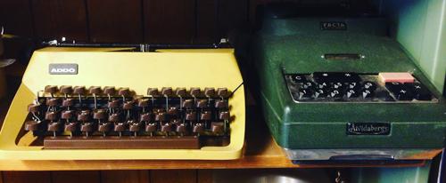 Skrivmaskin och räknemaskin