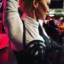 Madonna med strutar som hette duga.