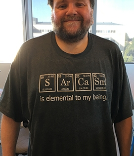...eller en kollega, Psson, med fantastiska t-shirtar.