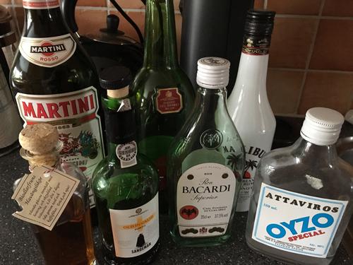 Slattar i flaskor