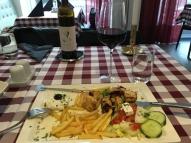 Kycklingsouvlaki strips vin