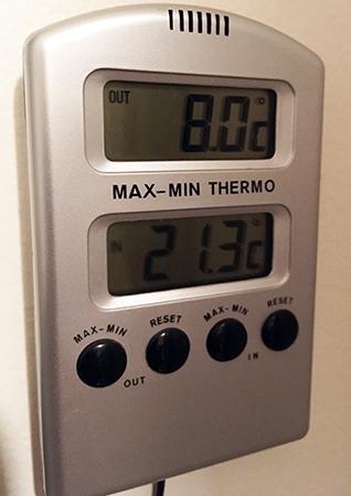 Åtta grader varmt den 19 november 2019