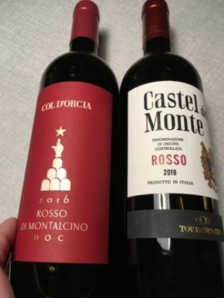 Viner Col Dorcia rosso di Montalcino 2016 o Castel del Monte rosso 2018