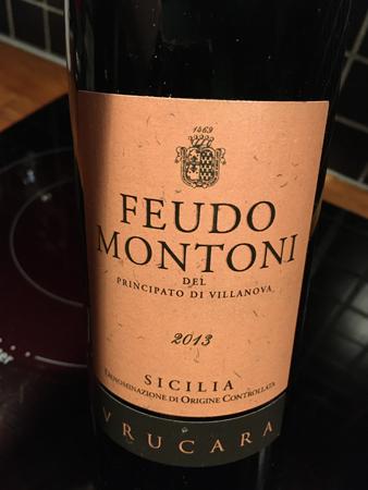 Feudo Montoni Vrucara Nero d'Avola 2013