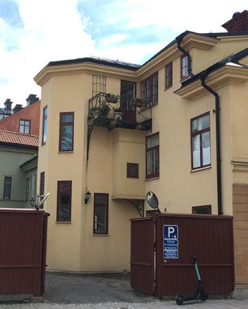 Baksidan av hus vid Östra Ågatan