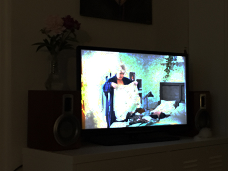 Min pappa Marianne på TV